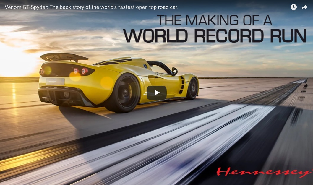 Venom GT Spyder The Back Story Of The Worlds Fastest Open Top - Sports car gt