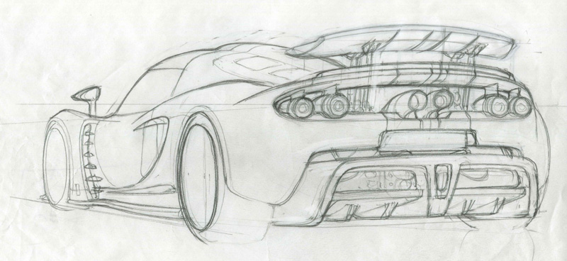 Venom GT Rear Sketch