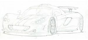 Front Venom GT Sketch