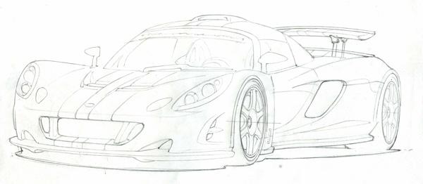 Venom GT Front Sketch